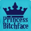 PRINCESS BITCHFACE with royal crown - Men's Fine Jersey T-Shirt