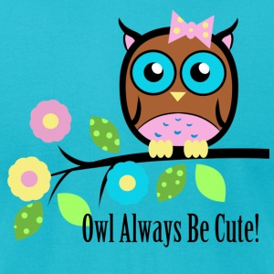 owl_always_be_cute-_200 - Men's T-Shirt by American Apparel