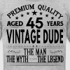 VINTAGE DUDE AGED 45 YEARS - Men's Fine Jersey T-Shirt