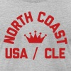 North Coast Indians Flock Print on Heather Gray -  - Men's Fine Jersey T-Shirt