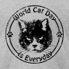 Vintage World Cat Day - Men's Fine Jersey T-Shirt