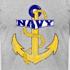 Vintage Navy Anchor - Men's Fine Jersey T-Shirt