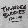 thunder buddies for life – black - Men's Fine Jersey T-Shirt