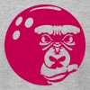gorilla logo bowling ball sports 0 - Men's Fine Jersey T-Shirt