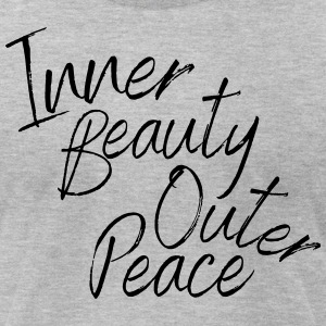 Inner Beauty Outer Peace - Men's T-Shirt by American Apparel