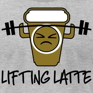 lifting latte - Men's T-Shirt by American Apparel