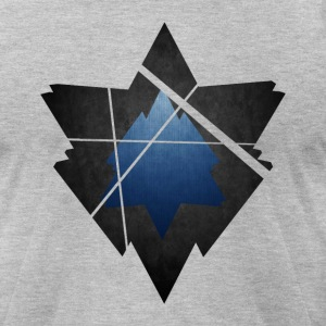 Simplistic Low Poly Symbol - Men's T-Shirt by American Apparel