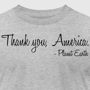 Thank you, America. - Men's T-Shirt by American Apparel