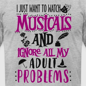 Watch Musicals - Men's T-Shirt by American Apparel
