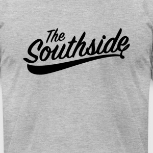 the southside blk on gray - Men's T-Shirt by American Apparel