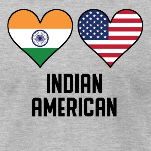 Indian American Heart Flags - Men's T-Shirt by American Apparel