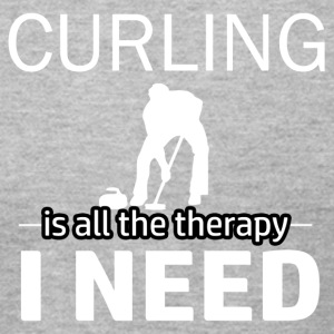 Curling is my therapy - Men's T-Shirt by American Apparel