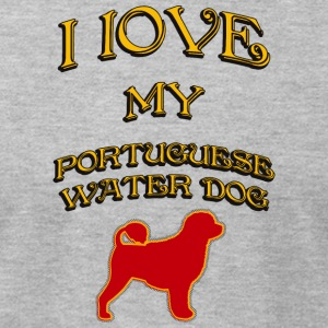 I LOVE MY DOG Portuguese Water Dog - Men's T-Shirt by American Apparel