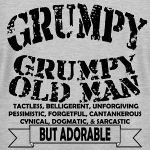 Grumpy Old Man - Men's T-Shirt by American Apparel