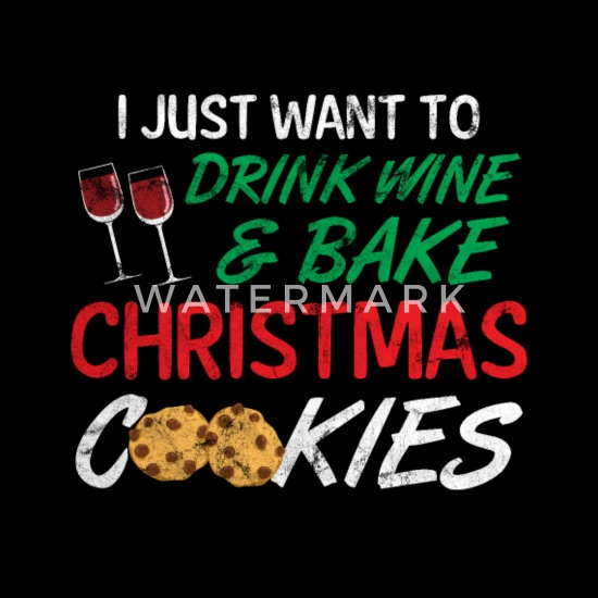 Christmas Gift Wine Drink Delicious Cookies Men S Jersey T Shirt