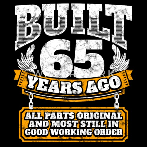 65th Birthday Gift Idea Built 65 Years Ago Shirt By EasyTeezy