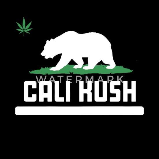 new product fad61 28254 Cali Kush Grizzly Bear California Weed Pot 420 Gan Men's ...