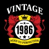 Vintage 1986 Aged to Perfection - Men's Fine Jersey T-Shirt