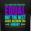all men are equal best are born in january - Men's Fine Jersey T-Shirt