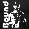 BOUND leather SIR white on black - Men's Fine Jersey T-Shirt