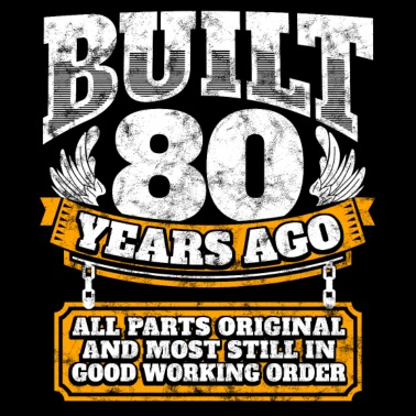 80th Birthday Gift Idea Built 80 Years Ago Shirt