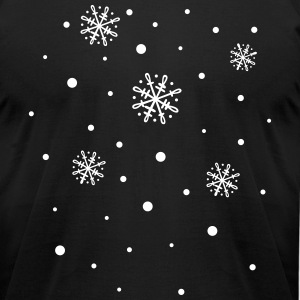 Snowflakes, winter - Men's T-Shirt by American Apparel