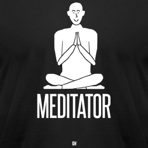 Meditator - Men's T-Shirt by American Apparel