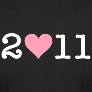 I Love 2011! - Men's T-Shirt by American Apparel
