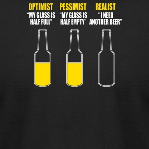 Optimist Pessimist Realist - Men's T-Shirt by American Apparel