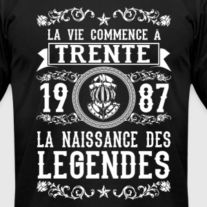 1987 - 30 ans - Légendes - 2017 - FR - Men's T-Shirt by American Apparel