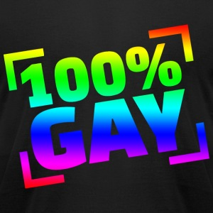 100 Gay - Men's T-Shirt by American Apparel