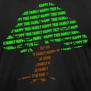 Happy Tree Family - Men's T-Shirt by American Apparel