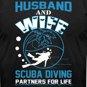 Husband And Wife Scuba Diving T Shirt - Men's T-Shirt by American Apparel