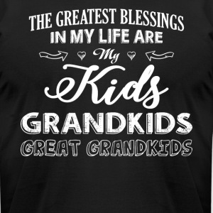 My Life Are My Kids Grandkids T Shirt - Men's T-Shirt by American Apparel