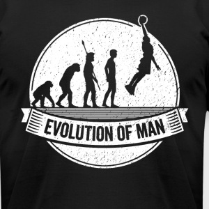 Basketballer Graphic Basketball Evolution Bball - Men's T-Shirt by American Apparel