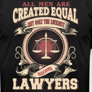 The Luckiest Men Become Lawyers - Men's T-Shirt by American Apparel