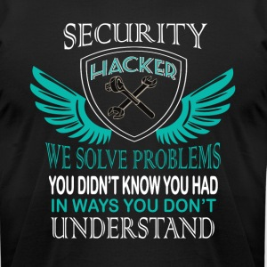 Security Hacker T Shirt - Men's T-Shirt by American Apparel