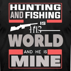 Hunting And Fishing T Shirt - Men's T-Shirt by American Apparel