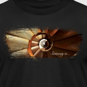 Stairway to... Artistic Paint Swoosh - Men's T-Shirt by American Apparel