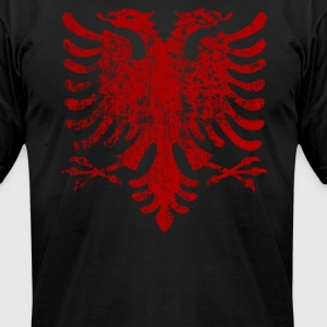 Albania Vintage Red - Men's T-Shirt by American Apparel