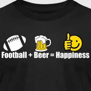FOOTBALL BEER HAPPINESS - Men's T-Shirt by American Apparel