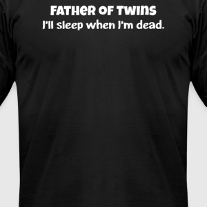 Twins Daddy - Men's T-Shirt by American Apparel