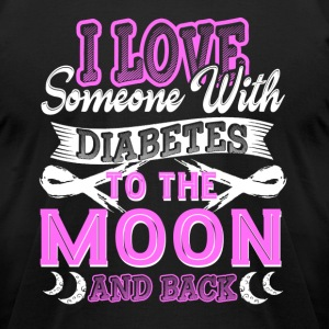 I Love Someone With Diabetes Awareness Shirts - Men's T-Shirt by American Apparel