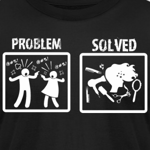 Problem Solved Hairdressing - Men's T-Shirt by American Apparel
