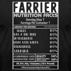 FARRIER NUTRITION FACTS SHIRT - Men's T-Shirt by American Apparel