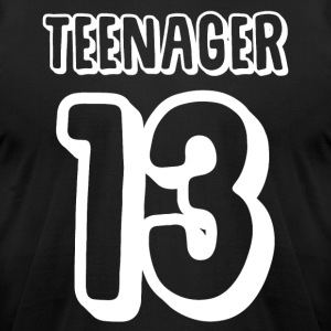 teenager 13 - Men's T-Shirt by American Apparel