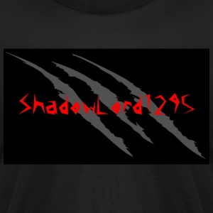 Keith channel background redtext - Men's T-Shirt by American Apparel