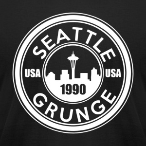 Grunge Seattle 1990 - Men's T-Shirt by American Apparel