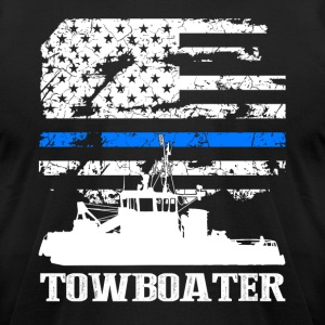 Towboater Flag Shirt - Men's T-Shirt by American Apparel