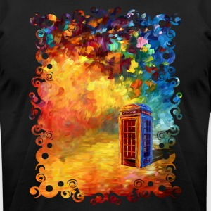 British Red Phone Box - Men's T-Shirt by American Apparel
